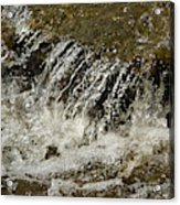 Flowing Water Over Rocks Acrylic Print