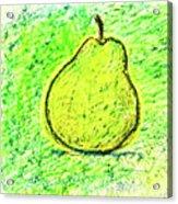 Fluorescent Pear Acrylic Print