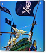 Flying The Pirates Colors Acrylic Print