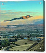 Fog Over Squaw Butte Acrylic Print