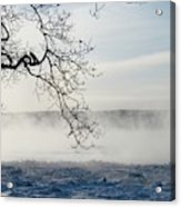 Fog Over The River Acrylic Print
