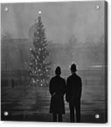Foggy Christmas Acrylic Print