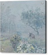 Foggy Morning, Voisins, 1874 Acrylic Print