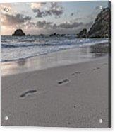 Follow Me Thoughtful Coastal Sunrise Acrylic Print