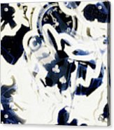 Follow The Blue Rabbit Acrylic Print