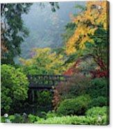 Footbridge In Japanese Garden Acrylic Print