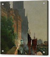 For Notre Dame, Foggy Morning Acrylic Print