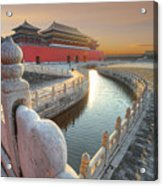 Forbidden City In China During Sunset Acrylic Print