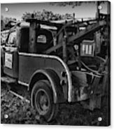 Ford F4 Tow The Truck Business End Black And White Acrylic Print