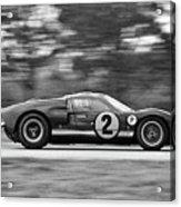 Ford Prototype Racecar On Track Acrylic Print