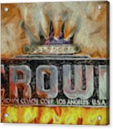 Forged In Fire - Crown - Oil Acrylic Print