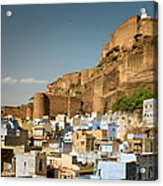 Fort Mehrangarh And Old Town In Jodhpur Acrylic Print
