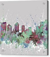 Fort Worth Skyline Artistic Pastel Acrylic Print