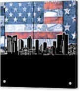Fort Worth Skyline Flag 3 Acrylic Print