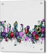 Fort Worth Skyline Floral 2 Acrylic Print