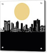 Fort Worth Skyline Minimalism Acrylic Print