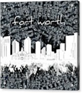 Fort Worth Skyline Music Sheet 2 Acrylic Print