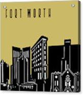 Fort Worth Skyline Panorama Yellow Acrylic Print