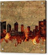 Fort Worth Skyline Vintage 2 Acrylic Print