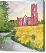 Fountains Abbey In Yorkshire Through Japanese Eyes Acrylic Print