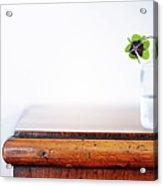 Fourleaf Cloverin Vase On Dresser Acrylic Print