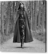 Francoise Hardy Walks The Bois De Boulogne, Paris Acrylic Print