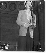 Frank Sinatra Crooning Into Microphone Acrylic Print