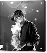 Frank Sinatra During Rehearsals Acrylic Print