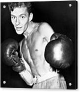 Frank Sinatra In Boxing Pose Acrylic Print