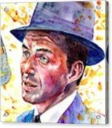 Frank Sinatra Singing Acrylic Print