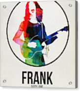 Frank Zappa Watercolor Acrylic Print