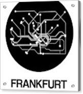 Frankfurt Black Subway Map Acrylic Print
