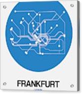 Frankfurt Blue Subway Map Acrylic Print