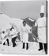 French Chefs At L Alpe D Huez In 1983 Acrylic Print