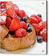 French Toast With Berries And Maple Acrylic Print