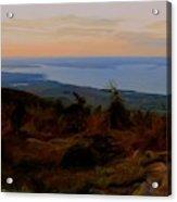 Frenchman's Bay From Cadillac Mountain Digital Photo Art Acrylic Print