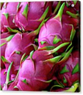 Fresh Dragon Fruit For Sale In A Thai Acrylic Print