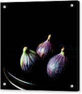 Fresh Figs On Black Background Acrylic Print
