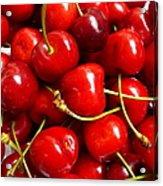 Fresh Red Cherries Acrylic Print