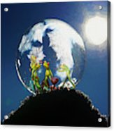 Frogs In A Bubble Acrylic Print