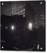 From The Back Window, 291 Ny Winter Acrylic Print