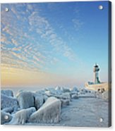 Frozen Lighthouse Acrylic Print