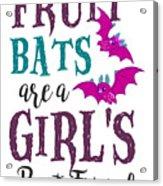 Fruit Bat Conservation Halloween Flying Fox Women Light Acrylic Print