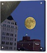 Full Moon At The Plaza Acrylic Print
