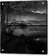 Full Moon Behind The Clouds Acrylic Print