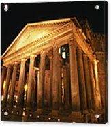 Full Moon Over Pantheon And Portico Acrylic Print
