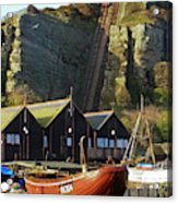 Funicular Railway East Cliff Hastings Acrylic Print