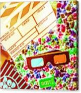 Funky Film Festival Acrylic Print