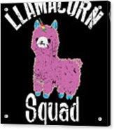 Funny Llamacorn Squad Unicorn Alpaca Lama Acrylic Print