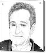 Funny Man Robin Williams Acrylic Print